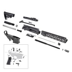 "AR 7.62X39 Rifle Kit with 12"" USA Made M-Lok Slim Light Handguard, BCG, LPK and 80% Lower"