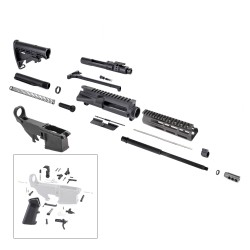 "AR 7.62X39 Rifle Kit with 7"" USA Made M-Lok Slim Light Handguard, BCG, LPK and 80% Lower"
