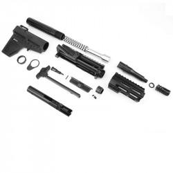 "AR 9MM 4.5"" Pistol Kit with Shockwave Stock Kit & USA Made 4.5"" M-Lok Handguard"