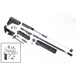 """AR-15 Rifle Kit with Complete Upper Build with Magpul Kits, USA Made 10"""" M-Lok Handguard, Upper, 80% Lower and Lower Parts Kit"""