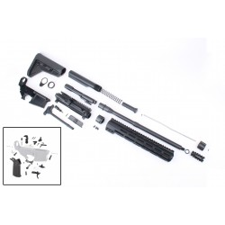 """AR-15 Rifle Kit with Complete Upper Build with Magpul Kits, USA Made 12"""" M-Lok Handguard, Upper, 80% Lower and Lower Parts Kit"""