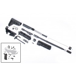 """AR-15 Rifle Kit with Complete Upper Build with Magpul Kits, USA Made 7"""" M-Lok Handguard, Upper, 80% Lower and Lower Parts Kit"""