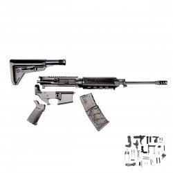 "AR-15 Magpul MLOK Rifle Kit - 16"" M4 Carbine (Upper Assembly and Lower Parts Kit W/ Magpul Grip ) - Free Magazine"