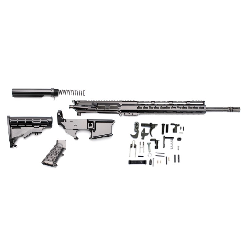 AR-15 Rifle Build Kit With LPK And 80% Black Lower 12