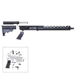 "308 Rifle Kit with BCG, Upper, Lower Part Kit & 15"" Quad Rail  (Complete Upper Assembly and Lower Parts Kit)"