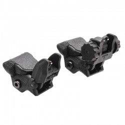 Fiber Optics Sights Red and Green Dots - Black - Packaged